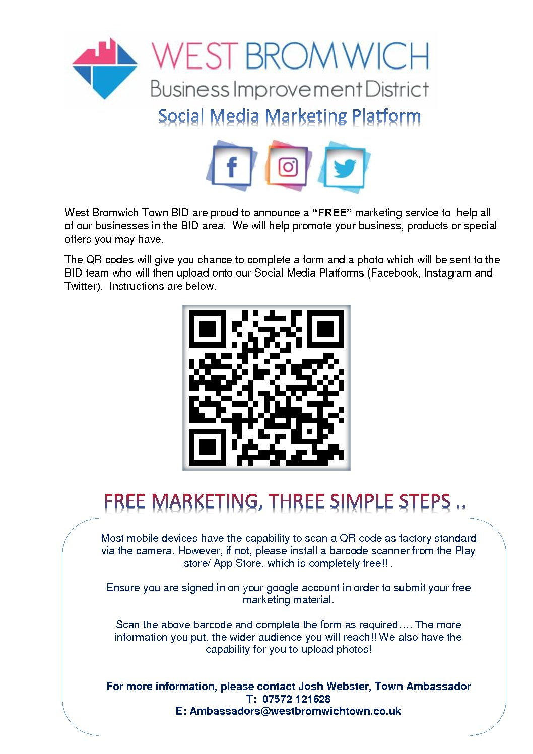 """""""FREE"""" Social Media Platform available to all BID Levy Businesses"""
